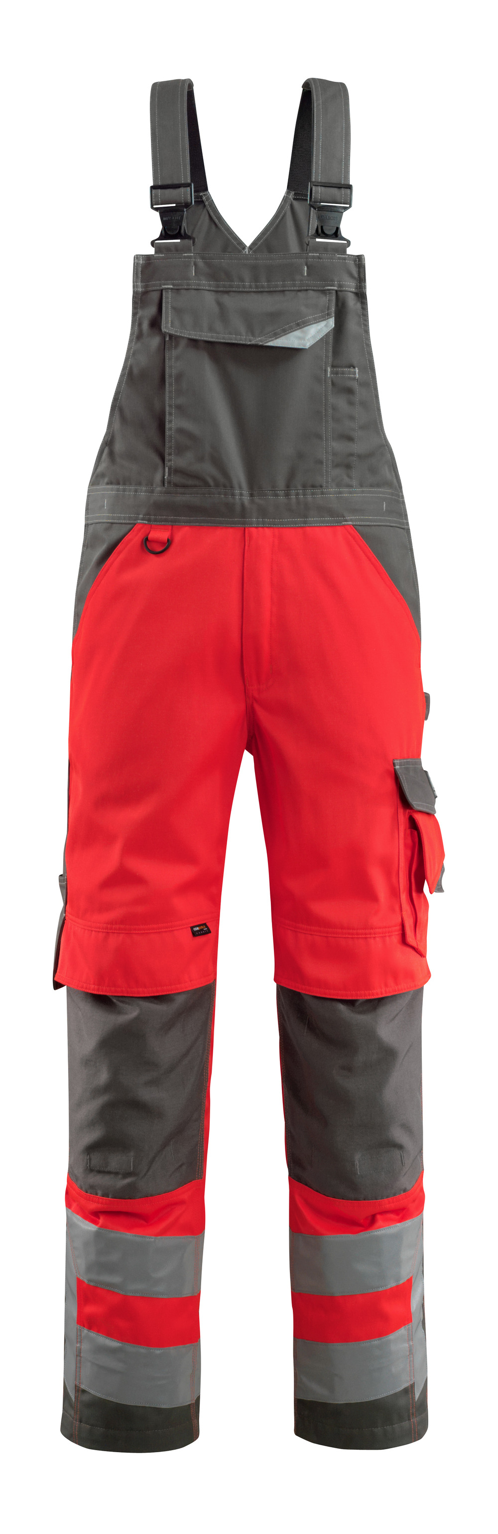 Mascot Newcastle amerikaanse overall hi-vis rood/donkerantraciet